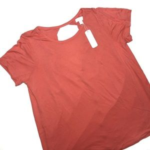 Charming Charlie Hi Low Coral Open Back Top
